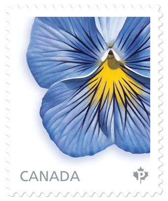 Canada Post Pansy Stamp