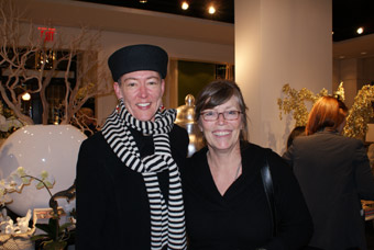 Lorraine Johnson and Cate Cochran at Marjorie Harris' book launch
